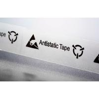 Clear ESD Tape w  Symbols   3 4 x72yds ESP 0750 3