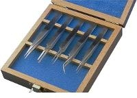 Tweezers Set 5pc  Technik  Wooden Case 18476USA