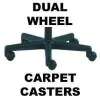 Dual Wheel Carpet Casters  adds 1 4550 5