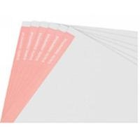 ESD Paper  White w Lt Red Stripe on Edge B8511