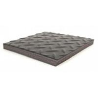 ESD Diamond Plate Mat w Grid   3  x 5 B4235