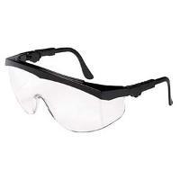 Black Safety Glasses  Clear Lens  Sides TK110