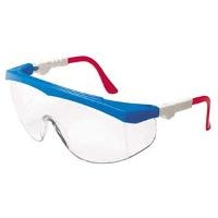 Red White Blue Safety Glasses Clear Lens TK130