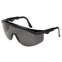 Black Safety Glasses  Gray Lens  Sides TK112