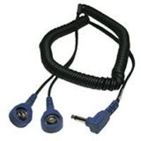 Coil Cord  Dual  Right Angle Plug  6 19868