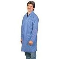 Statshield Lab Coat  Snaps  Blue  L 73603