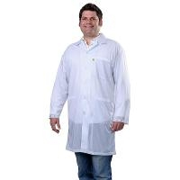 Statshield Lab Coat  Snaps  White  S 73621