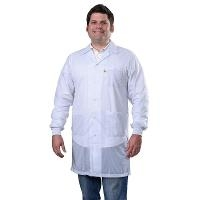 Statshield Lab Coat  Cuffs  White  S 73631