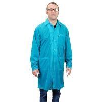 Statshield Lab Coat  Snaps  Teal  S 73641