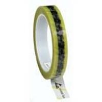 Clear ESD Tape w Yellow Stripe   3 4 79276