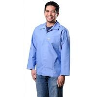 ESD Heavy Duty Smock  Blue   Large 73507E