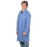 Statshield Lab Coat w Snaps  Blue   Lg 73603EE