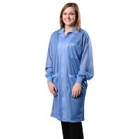 Statshield Lab Coat w Cuffs  Blue   Sm 73611EE
