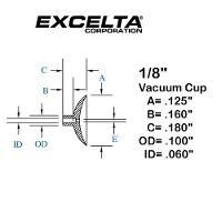 Buna n 1 8  ESD Vacuum Cup CB 18