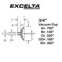 Buna n 3 4  ESD Vacuum Cup CB 34