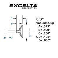Buna n 3 8  ESD Vacuum Cup CB 38