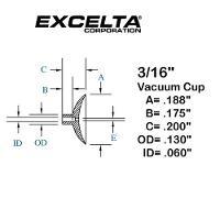 Buna n 3 16  ESD Vacuum Cup CB 316