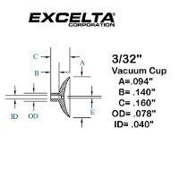 Buna n 3 32  ESD Vacuum Cup CB 332