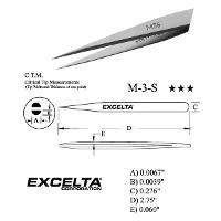 2 75  Straight Fine Tip Tweezers M 3 S