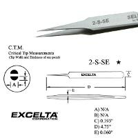 4 75  Straight Tapered Tweezer 2 S SE