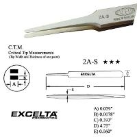 4 75  Straight Tapered Flat Tip Tweezer 2A S