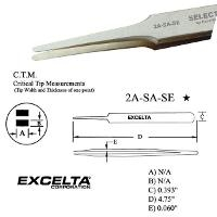 4 75  Straight Tapered Flat Tip Tweezer 2A SA SE