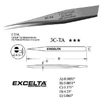 4 25  Titanium Straight Fine Tip Tweezer 3C TA