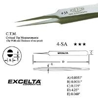 4 25  Straight Tapered Micro Tip Tweezer 4 SA