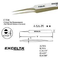 4 25  Straight Tapered Micro Tip Tweezer 4 SA PI