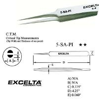 4 5  Straight Tapered Micro Tip Tweezer 5 SA PI