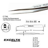 4 5  Offset Micro Fine Tip Tweezer 5A SA SE