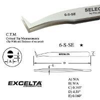 4 5  Angled Flat Sharp Tip Tweezer 6 S SE