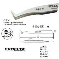 4 5  Angled Flat Sharp Tip Tweezer 6 SA SE