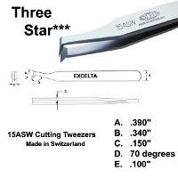 4 5  Angulated Cutting Tweezer 15A SW