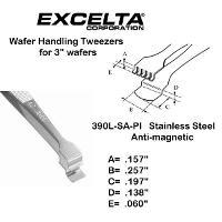 4 75  Fine Tip Wafer Handling Tweezer 390L SA PI