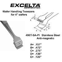 4 7 8  Teflon Pad Wafer Handling Tweezer 490T SA PI