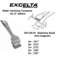 4 7 8  Wafer Handling Tweezer 491 SA PI