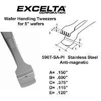 5  Teflon Pad Wafer Handling Tweezer 590T SA PI