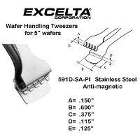 5  Wafer Handling Tweezer 591D SA PI