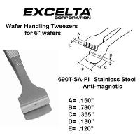 5  Teflon Pad Wafer Handling Tweezer 690T SA PI