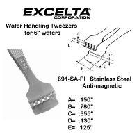 5  Wafer Handling Tweezer 691 SA PI