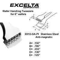 5  Wafer Handling Tweezer 691D SA PI