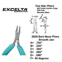 4 5  Curved Box Joint Chain Nose Plier 2629