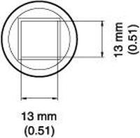 BGA Nozzle  13 x 13 x 12 4  H  mm A1471