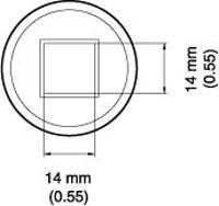 BGA Nozzle  13 x 14 x 12 5  H  mm A1472
