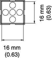 BGA Nozzle  16 x 16 x 25  H  mm A1473