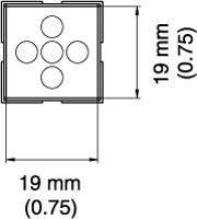 BGA Nozzle  19 x 19 x 25  H  mm A1474