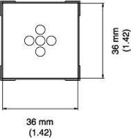 BGA Nozzle  36 x 36 x 15  H  mm A1476