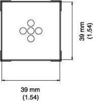 BGA Nozzle  39 x 39 x 15  H  mm A1477