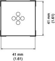 BGA Nozzle  41 x 41 x 15  H  mm A1478
